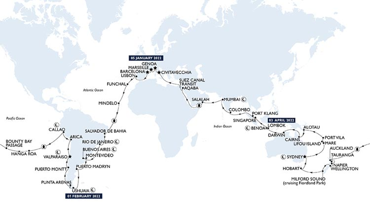 World Cruise 2022 by MSC
